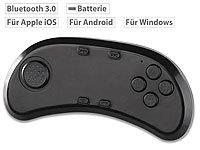 auvisio BT-3.0-Gamepad & ...-Brillen, iOS, Android & PC