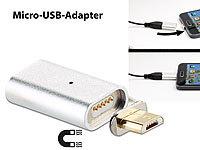 Callstel Magnetischer Micro-USB-...- und Datenkabel, silber