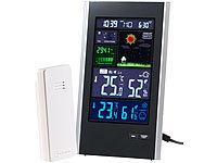 infactory Funk-Wetterstation mit ... USB-Ladeport (2 Ampere)