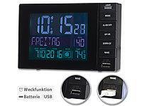 infactory Funkwecker mit Temperatur-... (2 A), 2 Weckzeiten
