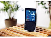 infactory Portable Design-... Wettervorhersage & Wecker