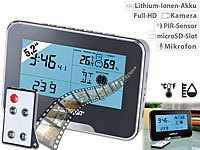 Somikon Full-HD-... Wetterstation und Bewegungserkennung
