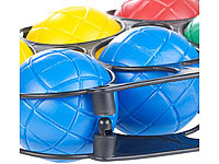 pearl boule boccia spiel mit 8 kunststoff kugeln ziel kugel tragekorb ebay. Black Bedroom Furniture Sets. Home Design Ideas