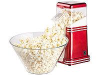 Popcorntopf Retro Popcorn-Topf mit Kurbel 24cm für perfektes Kino-Popcorn 6 l