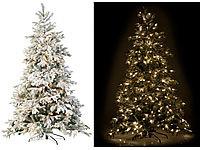 Ø 100 cm PEARL Weihnachtsbaum-Decke in Rot /& Weiß mit Santa-Claus-Motiv