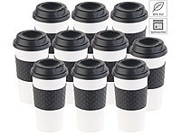 teebecher 10er set coffee to go becher deckel 475 ml. Black Bedroom Furniture Sets. Home Design Ideas