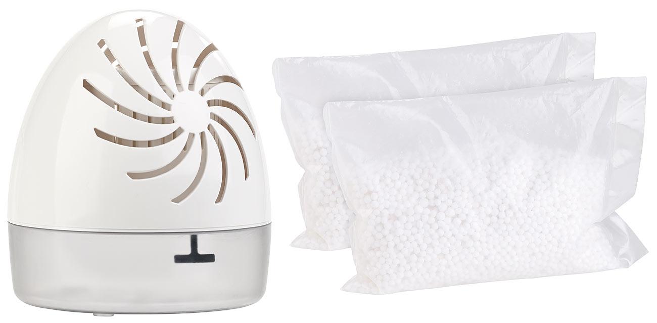Sichler Raumentfeuchter mit 2 Granulat-Packs, bis 100 ml/Tag, Räume bis 10 qm