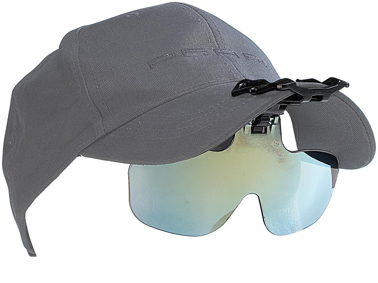 Speeron Ansteck-Sonnenbrille für Baseball-Caps, ideal für Brillenträger