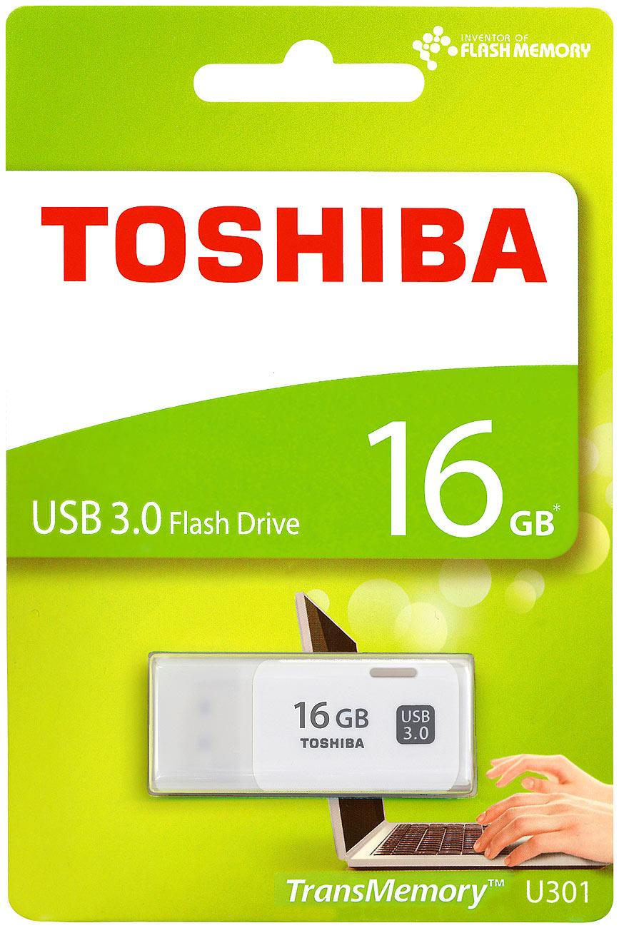 Toshiba USB-3.0-Stick TransMemory U301, 16 GB, Super Speed, weiß
