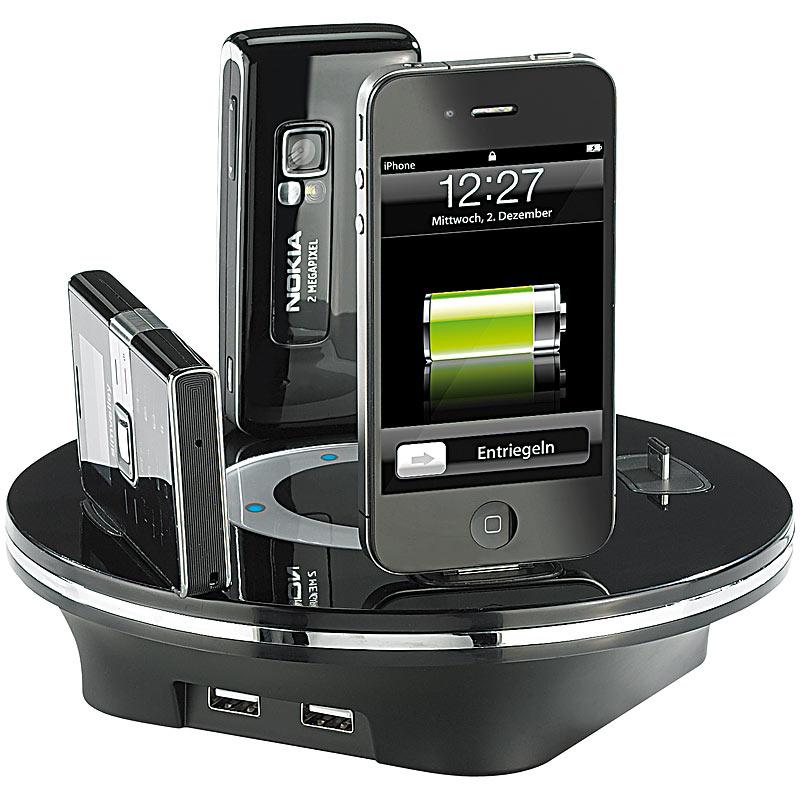 callstel universale usb multi ladestation 6x f tausende mobile ger te ebay. Black Bedroom Furniture Sets. Home Design Ideas