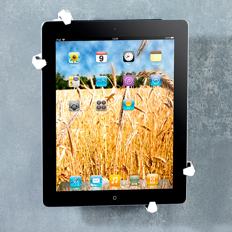 tablet halterung wand wandhalterung f r 7 bis 10 4. Black Bedroom Furniture Sets. Home Design Ideas