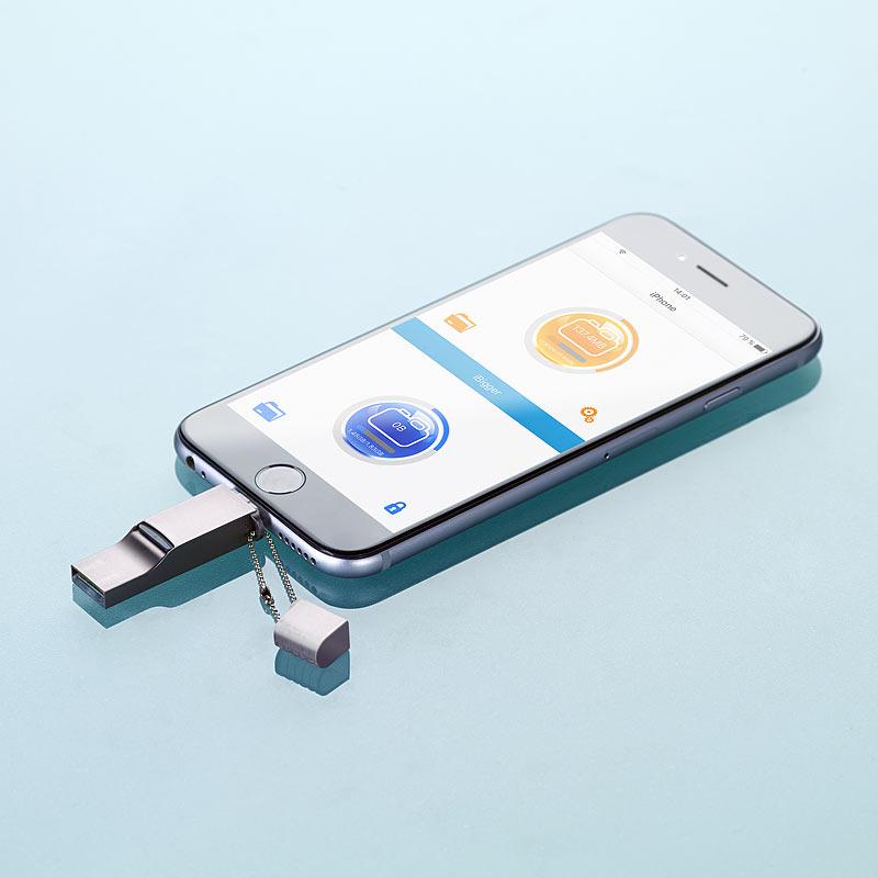 iphone stick usb speicher erweiterung f r iphone ipad. Black Bedroom Furniture Sets. Home Design Ideas