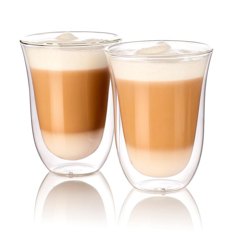 kaffeeglas doppelwandige latte macchiato gl ser 2er set kaffee gl ser ebay. Black Bedroom Furniture Sets. Home Design Ideas