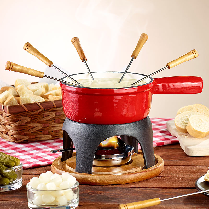 k se fondue t pfe k sefondue topf aus gusseisen 16 cm k se fondue sets ebay. Black Bedroom Furniture Sets. Home Design Ideas