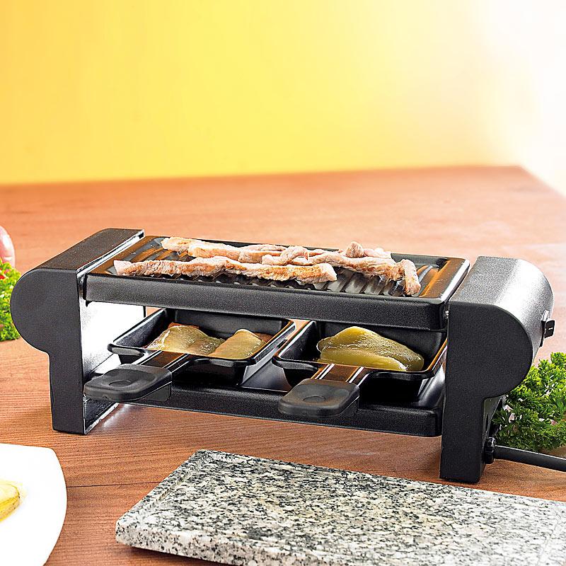 racletteofen raclette f r 2 mit grillaufsatz hei em stein 350 watt ebay. Black Bedroom Furniture Sets. Home Design Ideas