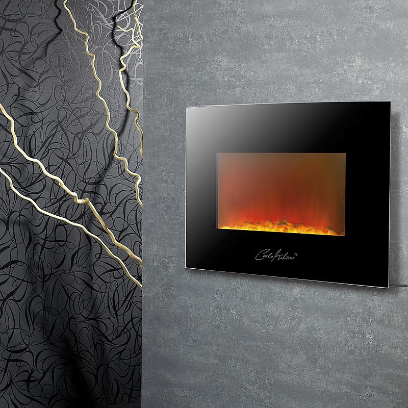kaminfeuer design elektro kamin atacama f r wandmontage. Black Bedroom Furniture Sets. Home Design Ideas