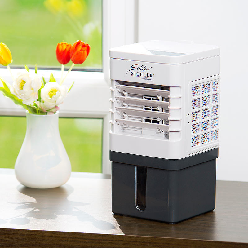 sichler kompakter mini akku luftk hler mit wasserk hlung 9 watt 40 ml std ebay. Black Bedroom Furniture Sets. Home Design Ideas