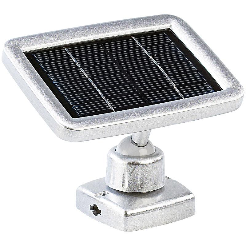led lampe mit solarpanel 3 led strahler mit solar panel pir bewegungsmelder ebay. Black Bedroom Furniture Sets. Home Design Ideas