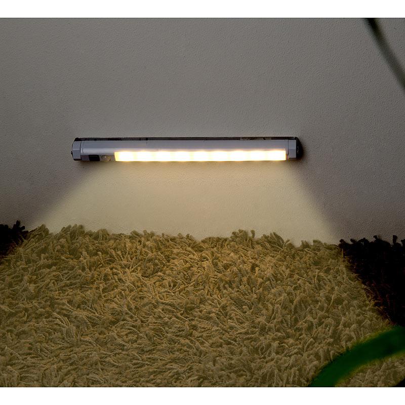 lunartec led lichtleiste mit pir bewegungssensor 9 smd leds warmwei ebay. Black Bedroom Furniture Sets. Home Design Ideas