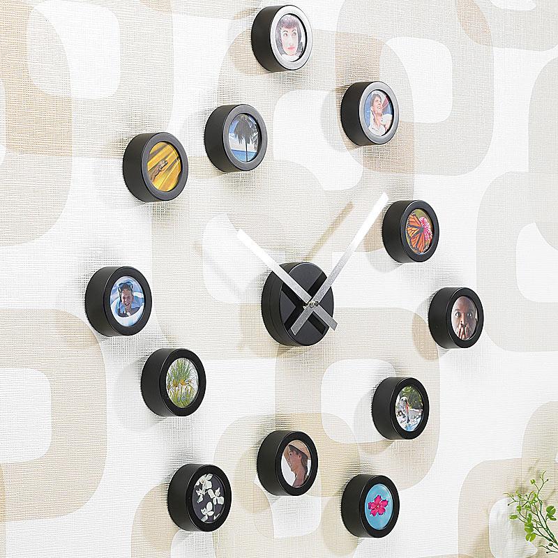infactory wanduhr zum selbstgestalten mit zifferblatt aus 12 bildern ebay. Black Bedroom Furniture Sets. Home Design Ideas