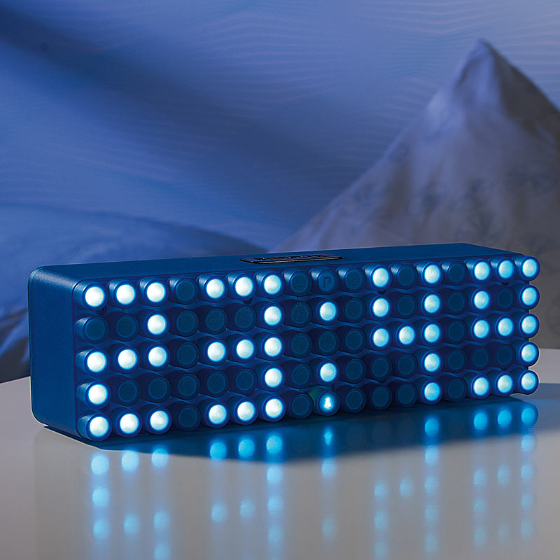 "Moderne LED-Wecker: LED-Designer-Wecker ""Blue 24"" (LED"