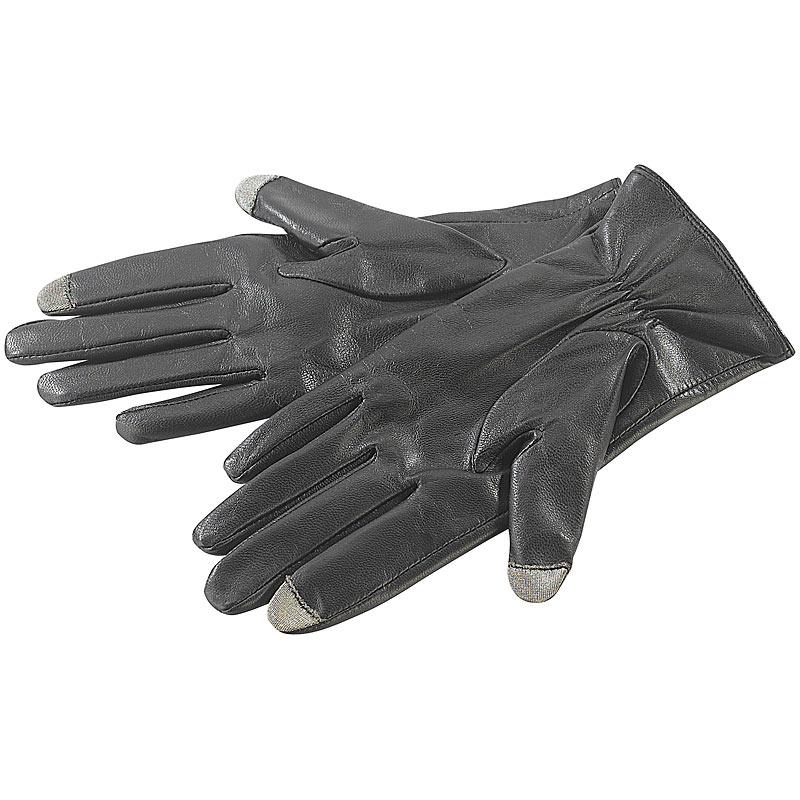 lederhandschuh touchscreen handschuhe ziegenleder f. Black Bedroom Furniture Sets. Home Design Ideas