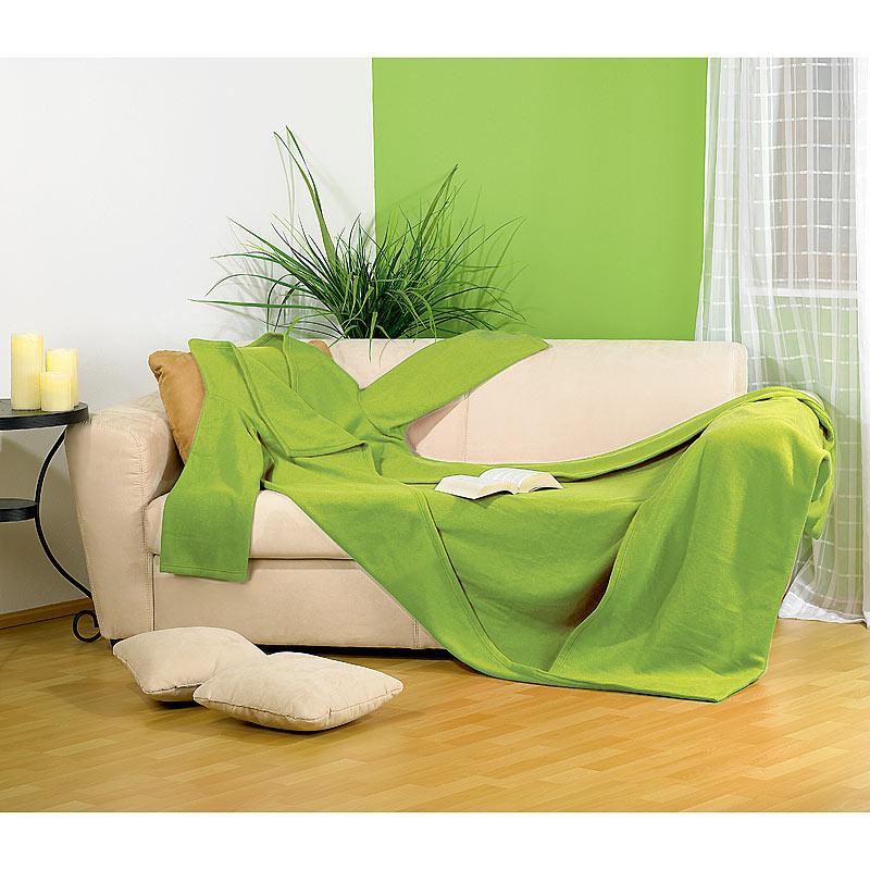 Decke ärmel: Decke Mit Ärmeln: Fleece-Kuscheldecke Mit Ärmeln, Grün