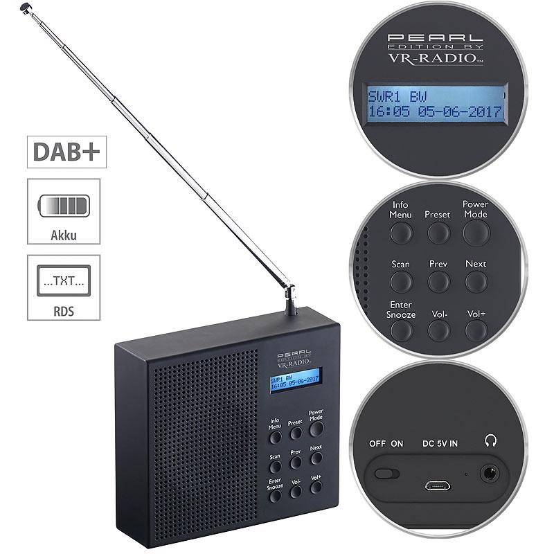 vr radio digitales dab fm radio mit akku dual wecker rds lcd display timer 4022107307031 ebay. Black Bedroom Furniture Sets. Home Design Ideas