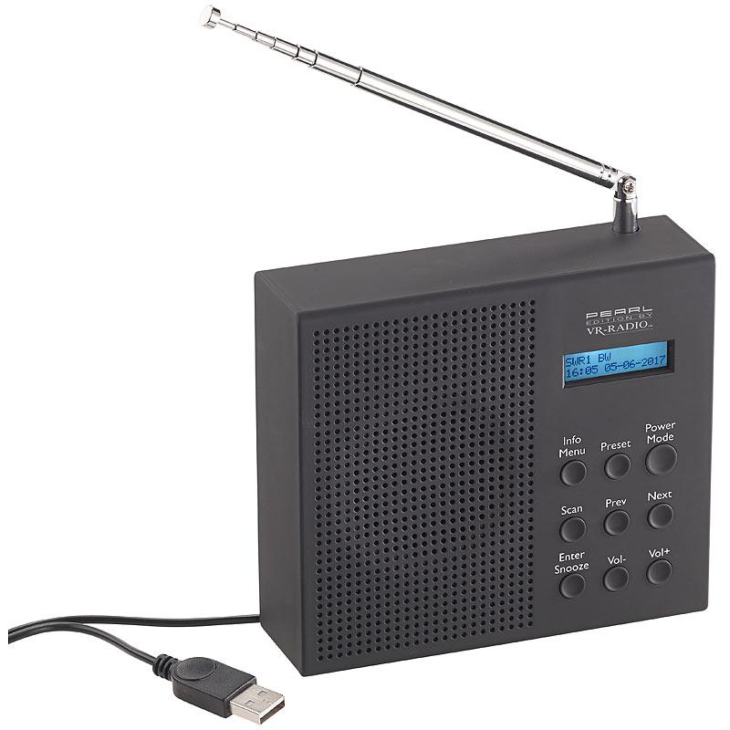 vr radio digitales dab fm radio mit akku dual wecker rds lcd display timer ebay. Black Bedroom Furniture Sets. Home Design Ideas