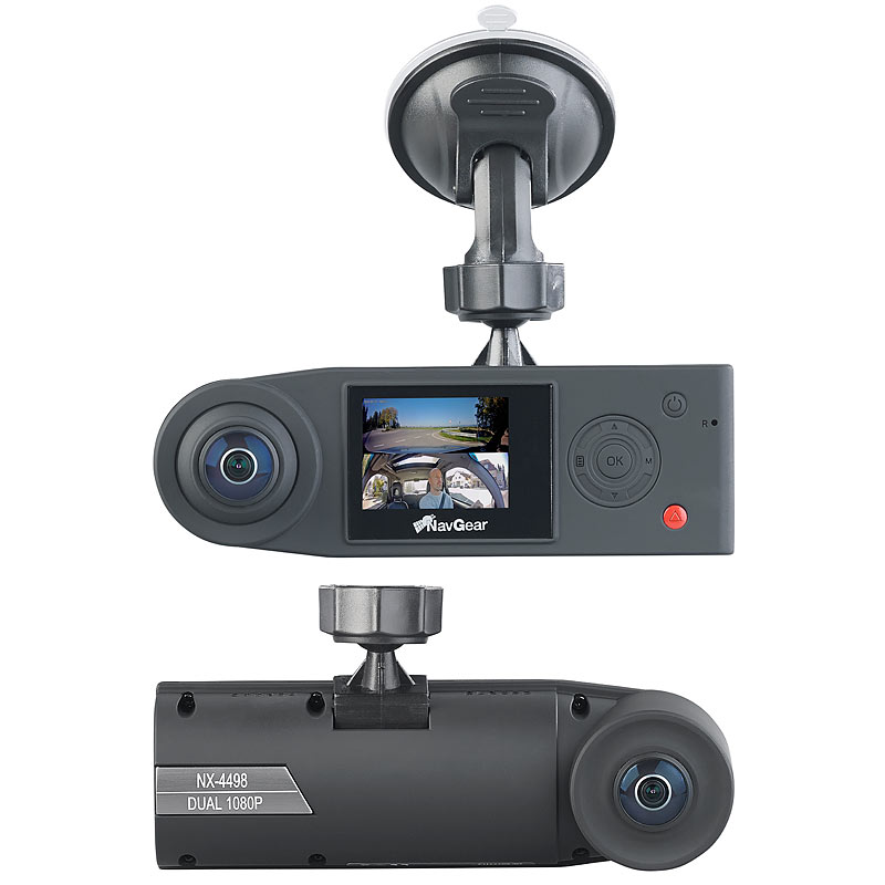 autokamera full hd dashcam mit 2 kameras f r 360. Black Bedroom Furniture Sets. Home Design Ideas