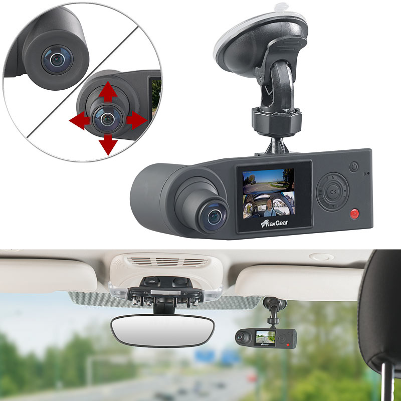 auto kamera full hd dashcam mit 2 kameras f r 360. Black Bedroom Furniture Sets. Home Design Ideas