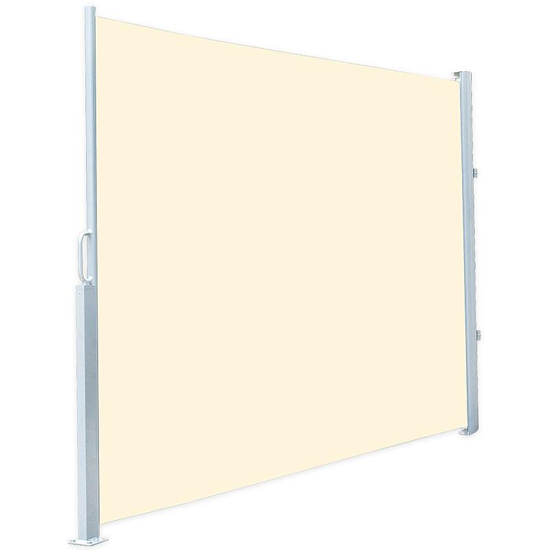 Bestseller einkaufen große Auswahl professionelle Website Details zu Markise: Seitenmarkise 120 x 200 cm, für Garten, Balkon und  Terrasse, beige