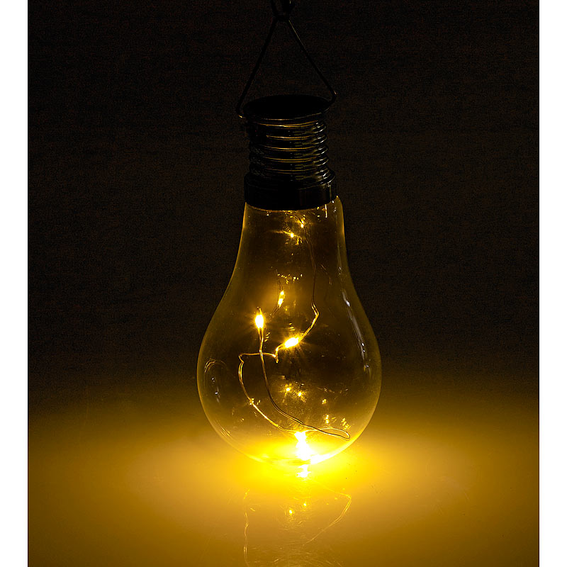 solar birne solar led lampe in gl hbirnen form 3 warmwei e leds 2 lm 0 024 w ebay. Black Bedroom Furniture Sets. Home Design Ideas