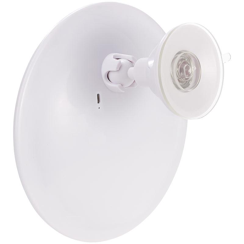 saugnapf kosmetikspiegel mit led licht und akku 5 fache vergr erung ebay. Black Bedroom Furniture Sets. Home Design Ideas
