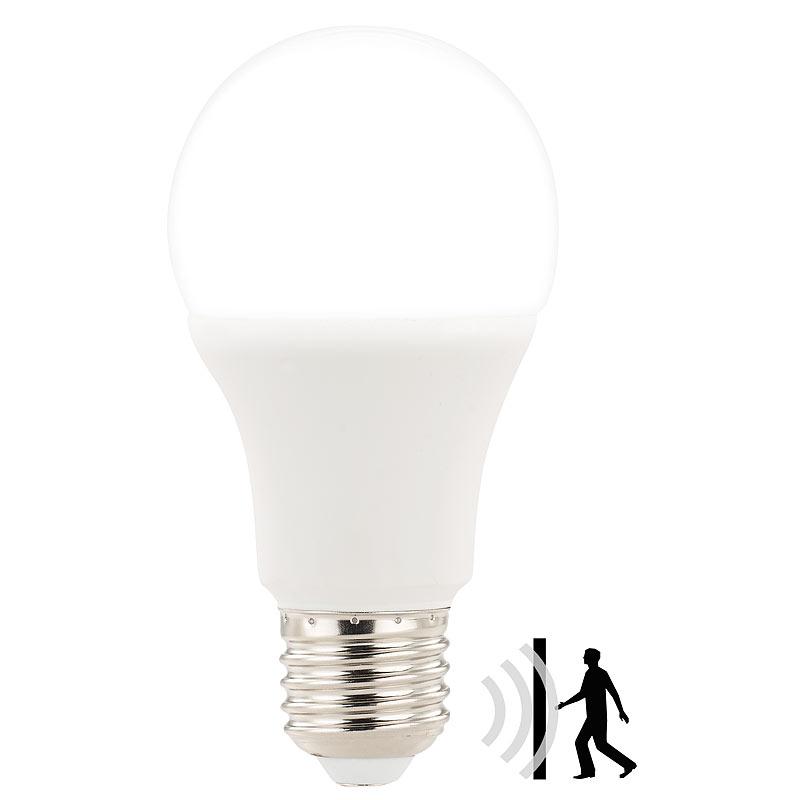 Luminea Lampe Bewegungsmelder: LED Lampe, PIR Sensor, 6,5 W