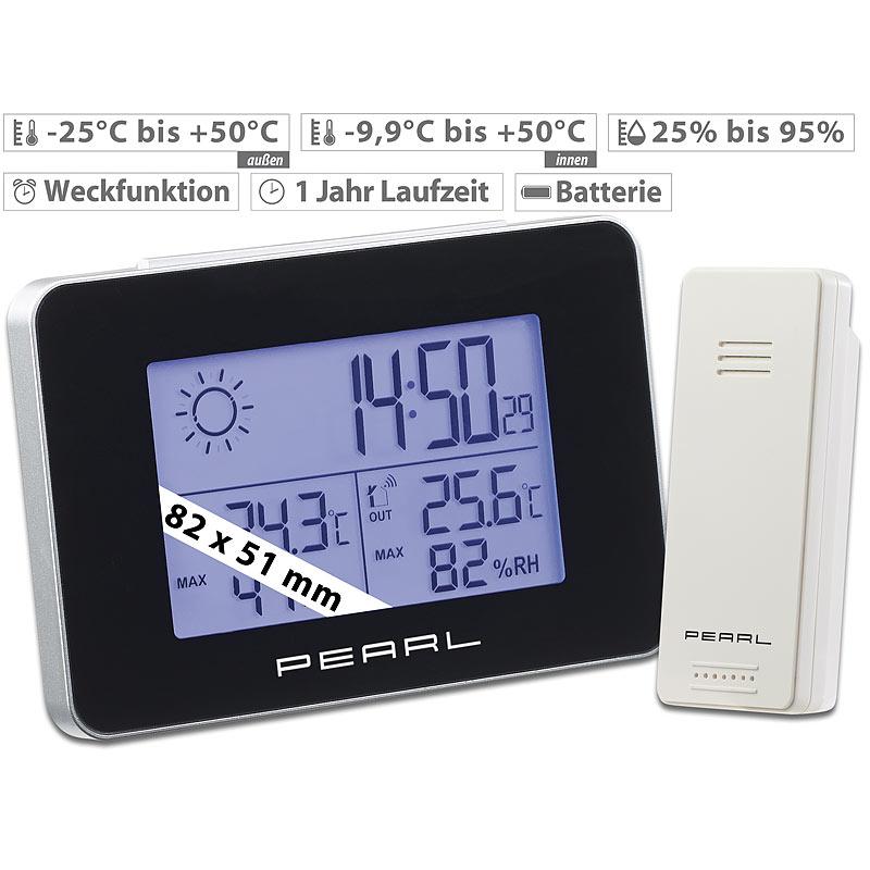 Digital Kabellos Regen Messgerät Wetter Station Innen Außen Zubehör Verkauf
