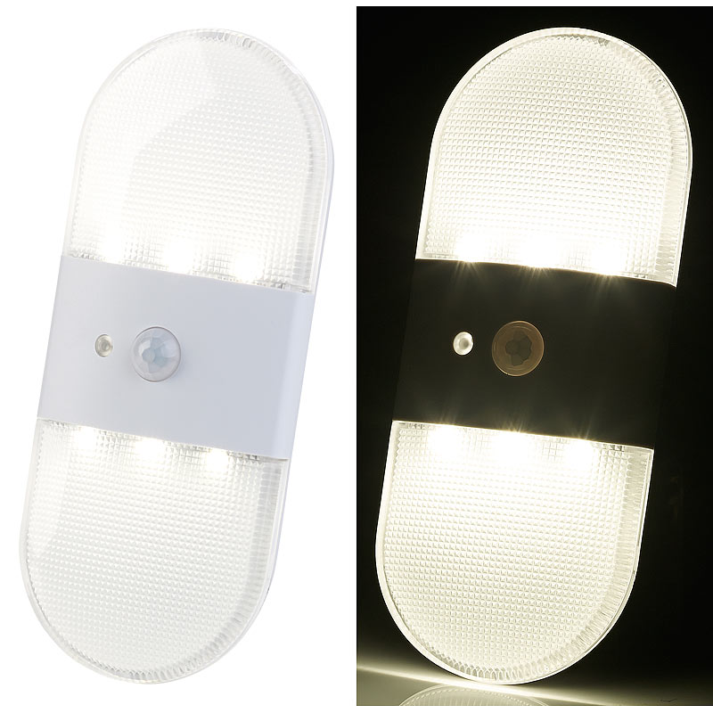 pearl batterie led wandleuchte bewegungs licht sensor 80 lumen ip44 ebay. Black Bedroom Furniture Sets. Home Design Ideas