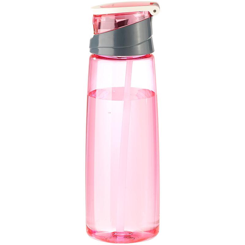 bpa freie kunststoff trinkflasche mit einhand verschluss 700 ml pink ebay. Black Bedroom Furniture Sets. Home Design Ideas
