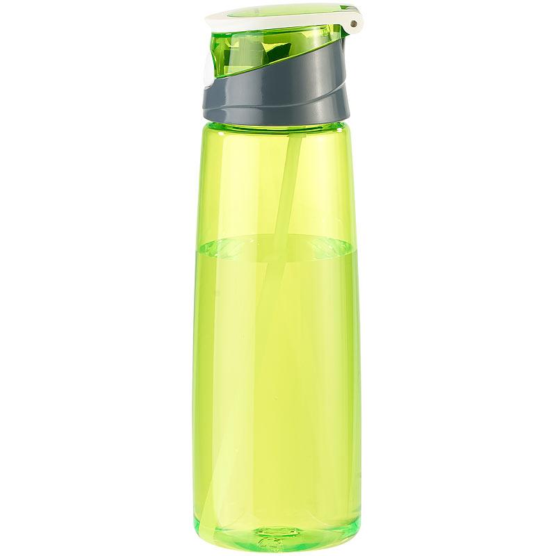 bpa freie kunststoff trinkflasche mit einhand verschluss 700 ml gr n ebay