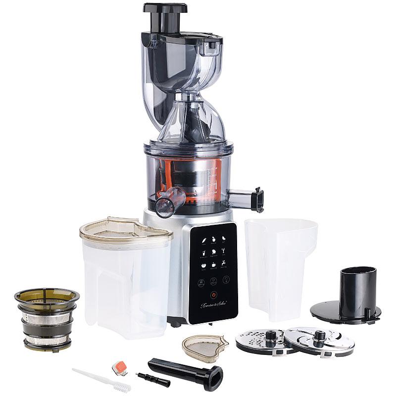 Slow Juicer Oder Zentrifugalentsafter : 3in1-Slow-Juicer & Entsafter mit Gemuse-Reibe & Eis-Aufsatz, 200 Watt eBay
