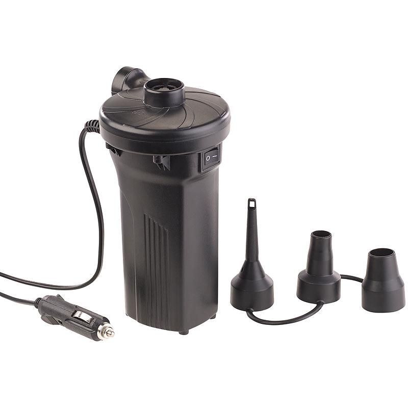 agt elektrische akku luftpumpe mit 3 aufs tzen f r 12 230 v 50 watt ebay. Black Bedroom Furniture Sets. Home Design Ideas