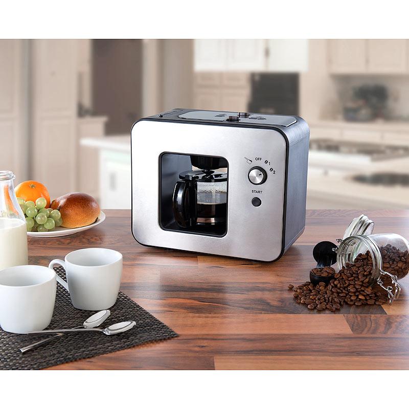 vollautomatische design kaffeemaschine mit bohnen mahlwerk 800 watt ebay. Black Bedroom Furniture Sets. Home Design Ideas