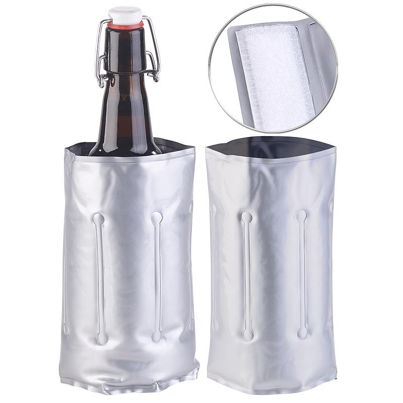 Flaschenkühler Kühlmanschette Kühlakku Flaschenwärmer mit Klettverschluss