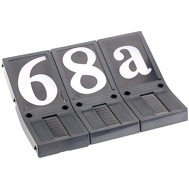 hausnummernleuchte beleuchtete hausnummer solar 3er set ebay. Black Bedroom Furniture Sets. Home Design Ideas