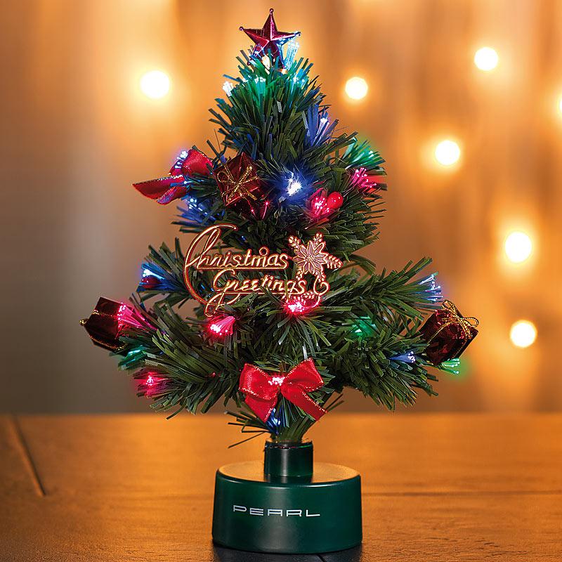 Mini weihnachtsbaum led weihnachtsbaum mit glasfaser farbwechsler ebay - Weihnachtsbaum mini led ...
