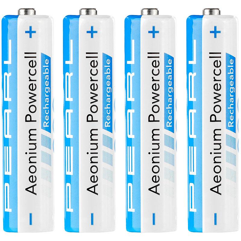 "AAA Accu Akkus AAA 800 mAh Hybrid-Akku AAA Micro /""Aeonium-Powercell/"" 4er-Set"