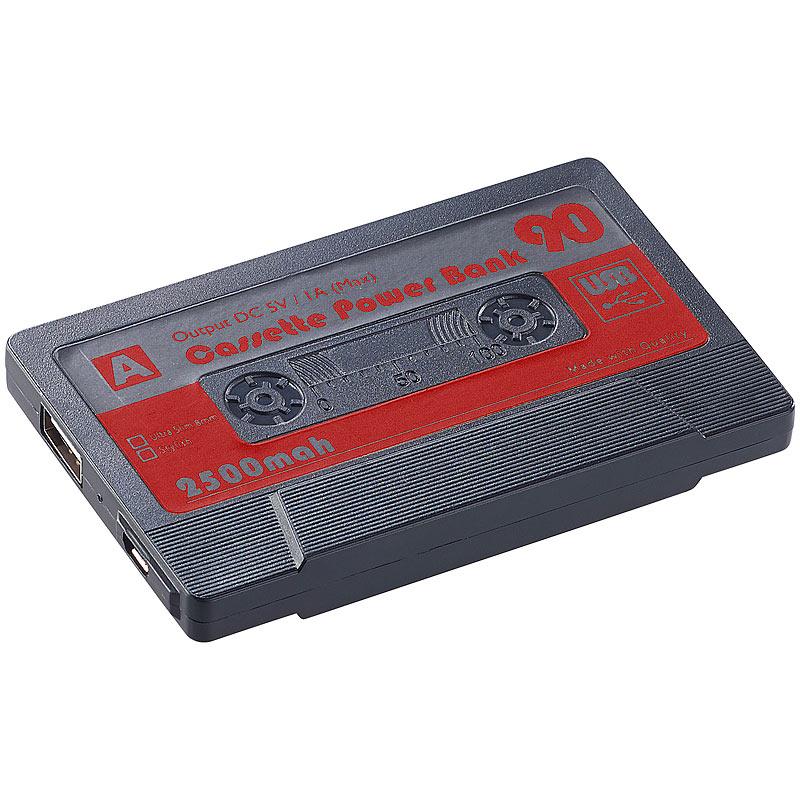 powerbank f r handys powerbank in retro kassetten optik. Black Bedroom Furniture Sets. Home Design Ideas