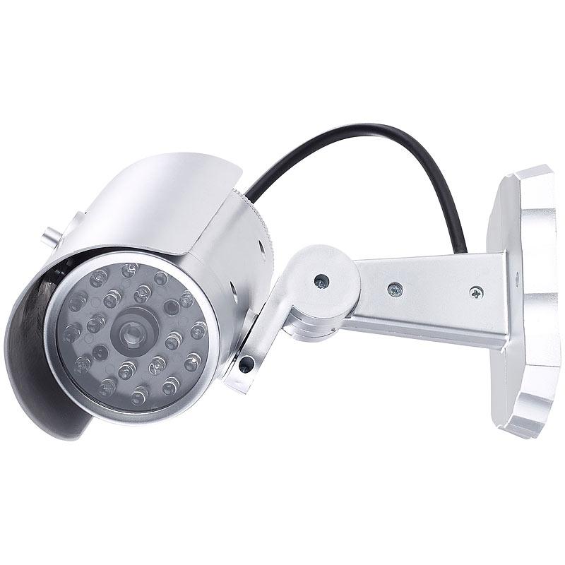 dummy kamera berwachungskamera attrappe mit bewegungssensor und signal led ebay. Black Bedroom Furniture Sets. Home Design Ideas