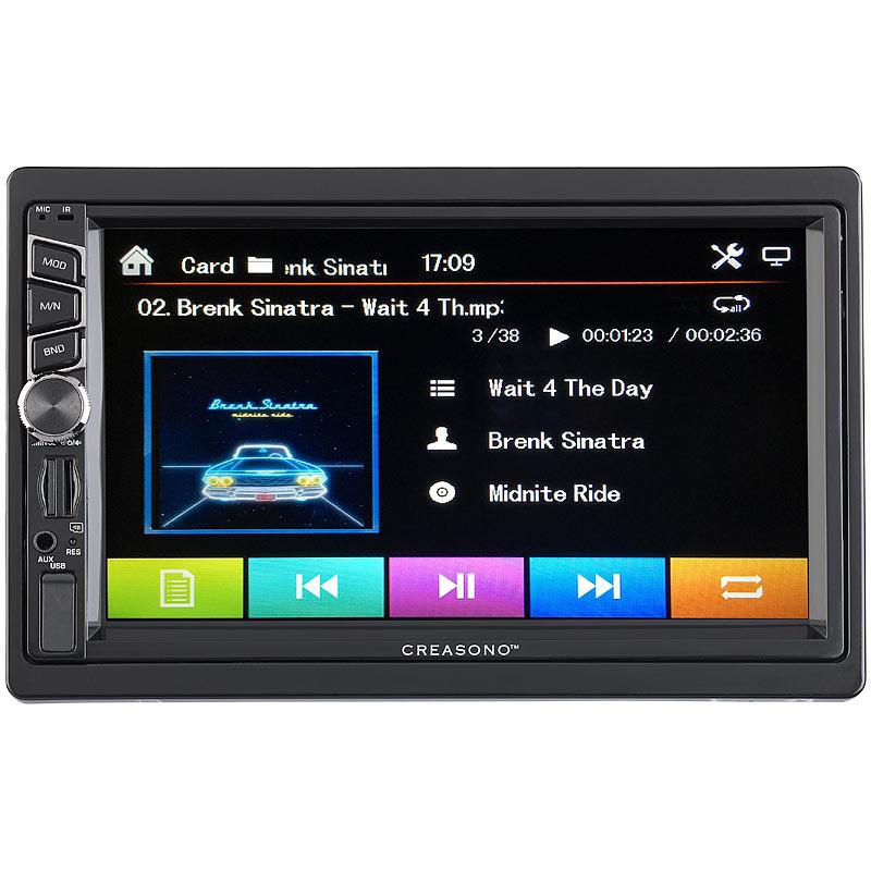Creasono 2-DIN-DAB+/FM-Autoradio, Touchdisplay, Bluetooth