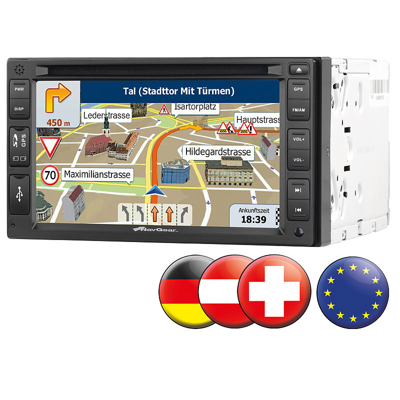 doppel din navi streetmate 2 din autoradio mit 6 navi dsr n 62 europa ebay. Black Bedroom Furniture Sets. Home Design Ideas